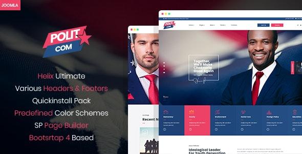 Polytico - Multipurpose Political And NGO Joomla Template - Political Nonprofit
