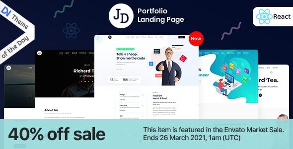 John - React Minimal HTML Portfolio OnePage Template