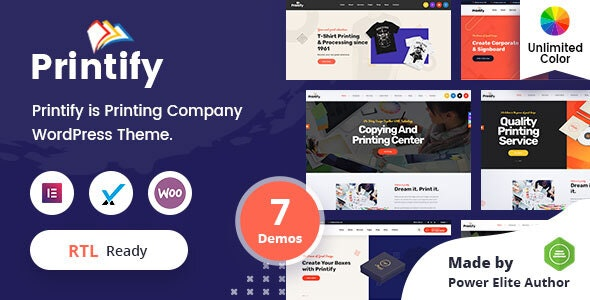 Printify - Printing Company WordPress Theme + RTL - Business Corporate