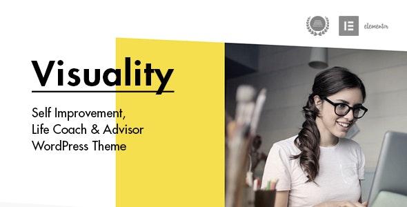 Visuality - Self Improvement & Life Coach WordPress Theme - Activism Nonprofit