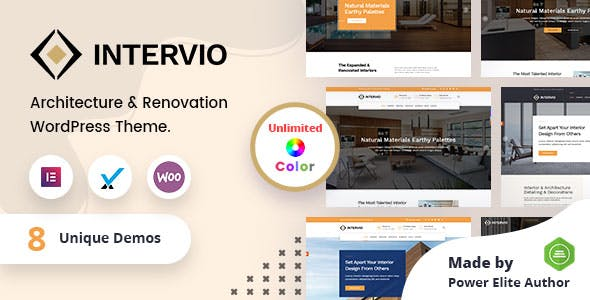 Intervio - Architecture WordPress Theme + RTL
