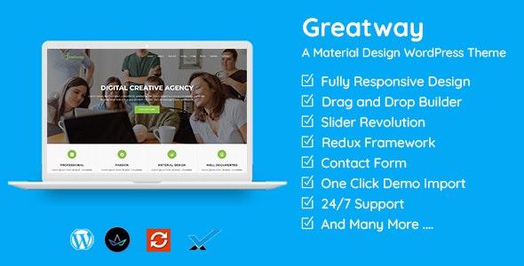 Greatway - Material Design WordPress Theme - Technology WordPress