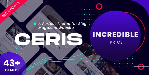 Ceris - Magazine & Blog WordPress Theme
