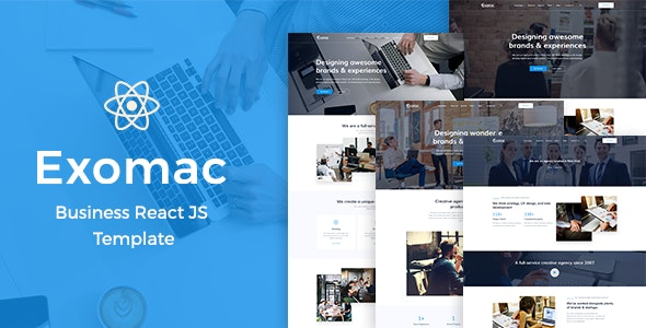 Exomac – Business React JS Template - Business Corporate