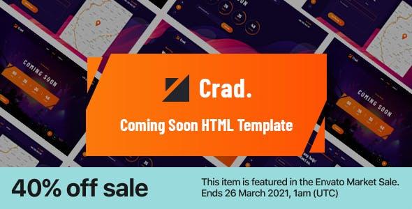 Crad - Creative Coming Soon HTML5 Template