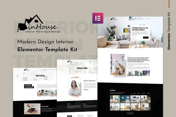 Inhouse - Modern Design Interior Elementor Template Kit - Real Estate & Construction Elementor