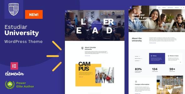 Estudiar - College University WordPress - Education WordPress