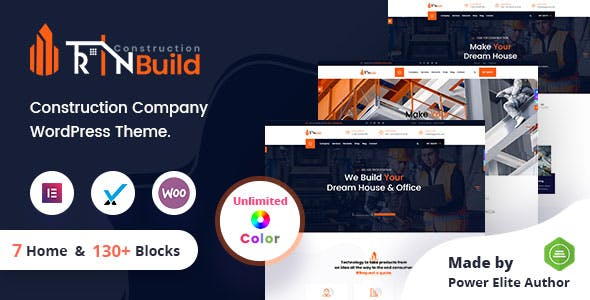 RinBuild - Construction Building Company WordPress Theme + RTL