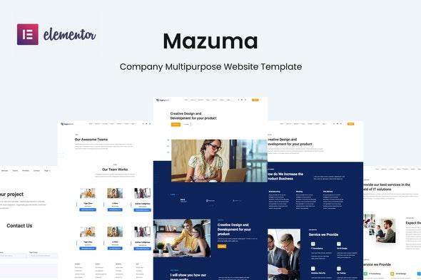 Mazuma - Business Elementor Template Kit - Business & Services Elementor