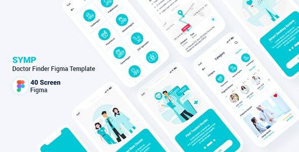 Symp – Doctor Finder Figma Template
