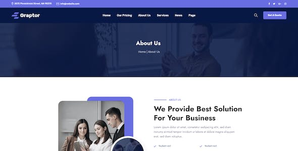 Graptor – Technology & IT Solutions XD Template
