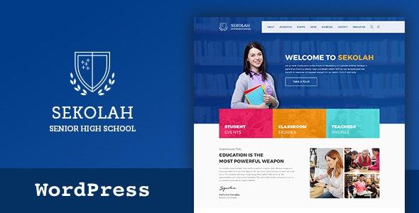 Sekolah - Senior High School WordPress Theme - Education WordPress