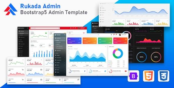 Rukada - Responsive Bootstrap 5 Admin Template - Admin Templates Site Templates