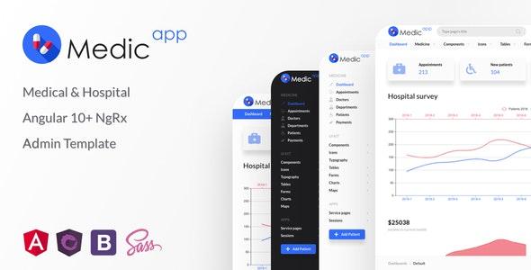 MedicApp - Medical & Hospital Angular 11+ NgRx Admin Template - Admin Templates Site Templates