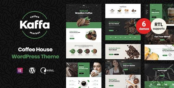 Kaffa - Cafe & Coffee Shop WordPress Theme + RTL - Restaurants & Cafes Entertainment