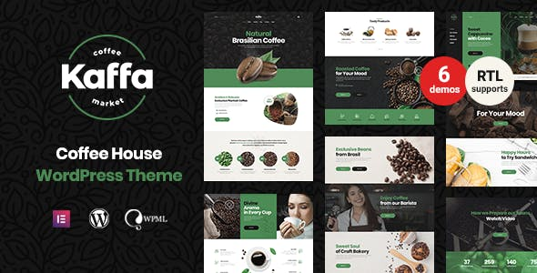 Kaffa - Cafe & Coffee Shop WordPress Theme + RTL