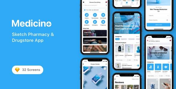 Medicino - Sketch Pharmacy & Drugstore App - Health & Beauty Retail