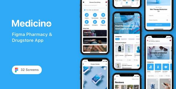 Medicino - Figma Pharmacy & Drugstore App - Health & Beauty Retail