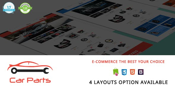 Carparts - Auto Mechanic Responsive PrestaShop 1.7 & 1.6 Theme