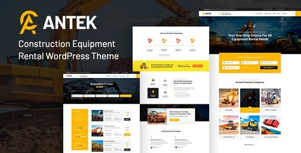 Antek - Construction Equipment Rentals WordPress Theme - Directory & Listings Corporate