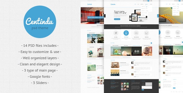 Centindu - clean and modern PSD template - Corporate Photoshop