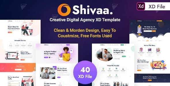 Shivaa - Creative Digital Agency XD Template