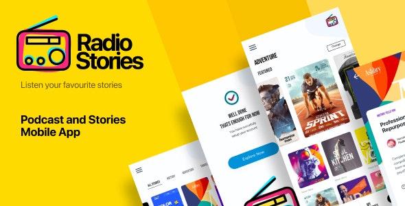 RadioStory   A Podcast Mobile App Figma Template - Entertainment Figma