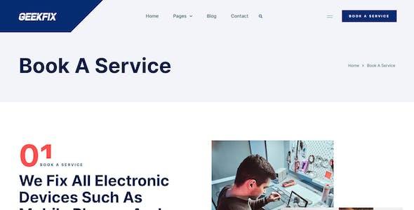 Geekfix — Smartphone, Tablet & Computer Repair Elementor Kit