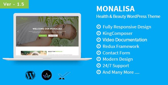 Monalisa - Health & Beauty WordPress Theme
