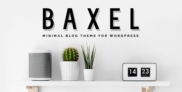 Baxel - Minimal Blog Theme for WordPress - Personal Blog / Magazine
