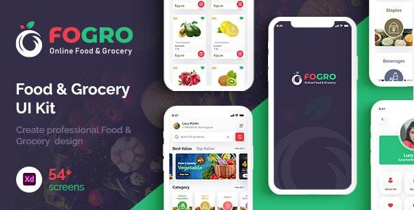 FOGRO   Food & Grocery App UI Kit for Adobe XD - Food Retail