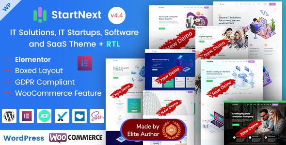 StartNext - Elementor IT & Business Startup WP Theme - Business Corporate