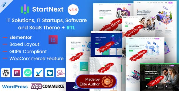 StartNext - Elementor IT & Business Startup WP Theme