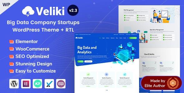 Veliki - Big Data Company WordPress Theme