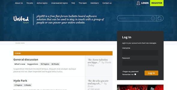 UnitedForum - phpBB3 Forum Style
