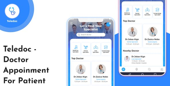 Teledoc - Doctor Appoinment Mobile App UI Kit