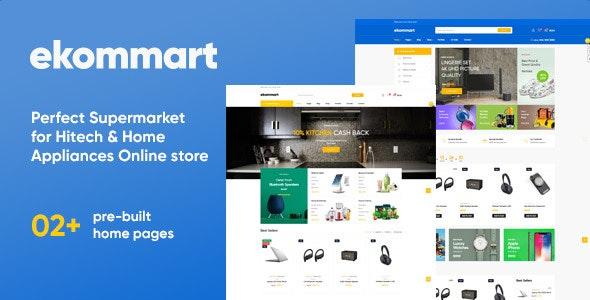 Leo Ekommart Supermarket Hitech & Home Appliance Prestashop Theme - PrestaShop eCommerce