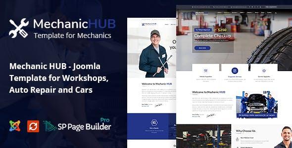 Mechanic HUB - Car Repair Joomla Template