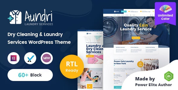 Aundri - Dry Cleaning Services WordPress Theme + RTL - Business Corporate