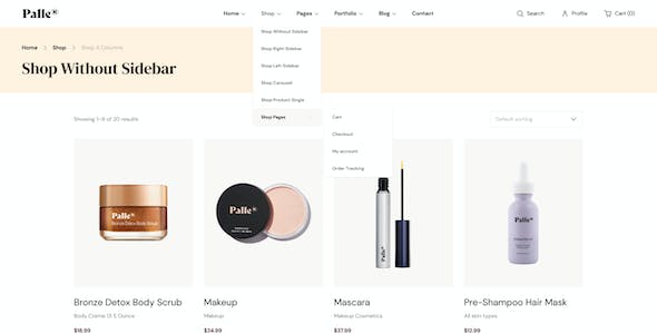 Palle — Personal Care Shop Template