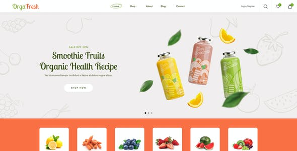 OrgaFresh | Organic & Fast Food Store Figma Template