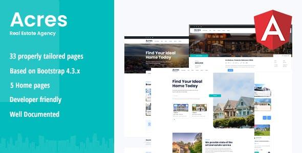 Acres - Real Estate Angular Template
