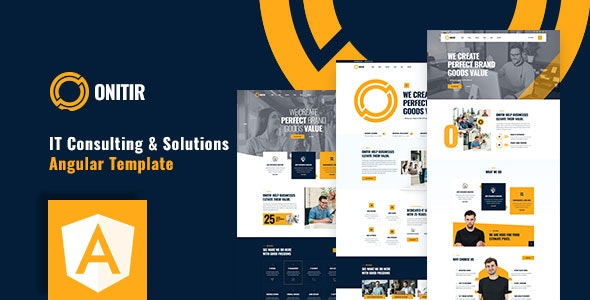 Onitir - IT Solutions Angular Template - Business Corporate