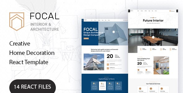 Focal - Creative Architecture React Template