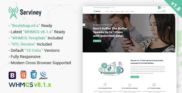 Serviney - Multipurpose Internet Service Provider Template