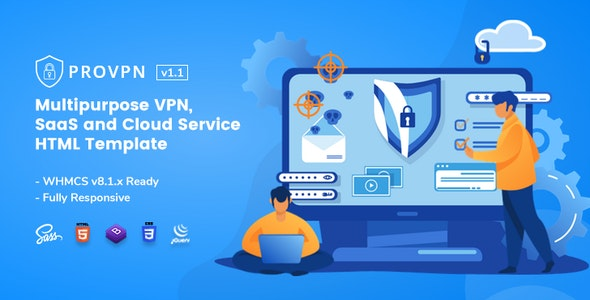Provpn   Multipurpose VPN HTML Template with WHMCS - Technology Site Templates