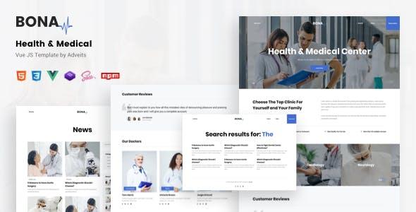 Bona - Health & Medical Vue JS Template