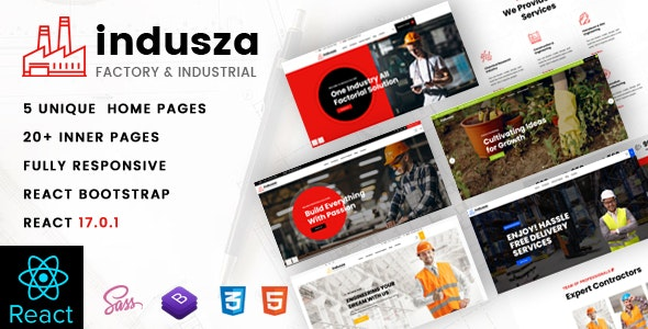 Indusza- Industrial & Factory React Template - Business Corporate