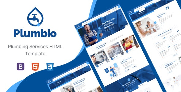 Plumbio - Plumbing Services HTML Template - Business Corporate