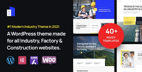 Trydus - Industry & Factory WordPress Theme - Business Corporate